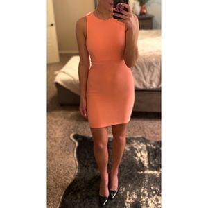 Neon coral dress